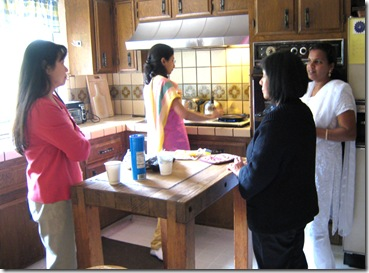 ladies making lunch