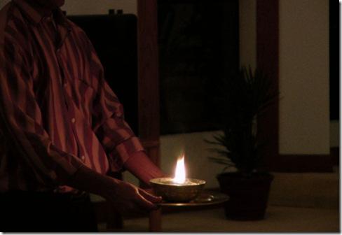 ganesh holding light