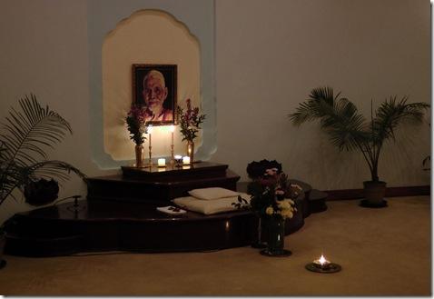 ramana altar at end