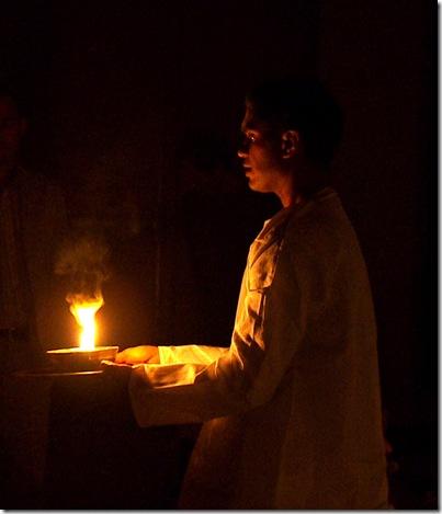 ganesh offering camphor flame