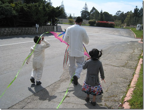 gnana p with children and kite