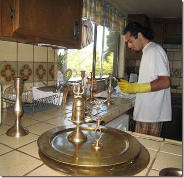 jaden cleaning brass